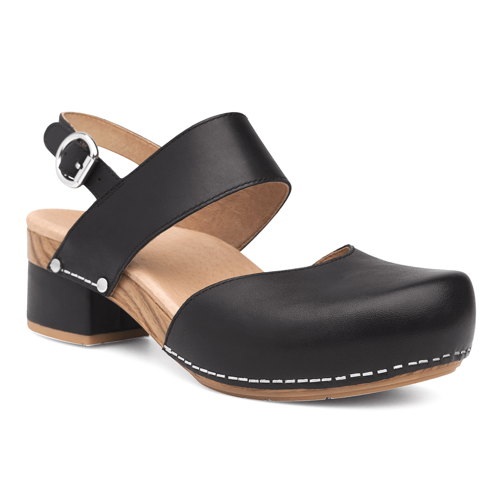 Dansko Women's Malin Leather Closed Toe Clogged Sandal Shoe