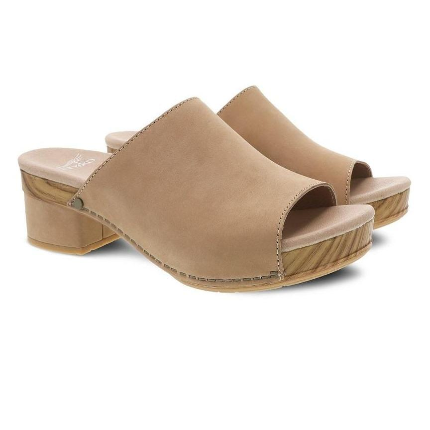 Dansko Maci Women's Leather Wooden Comfort Slide Sandal | Simons Shoes