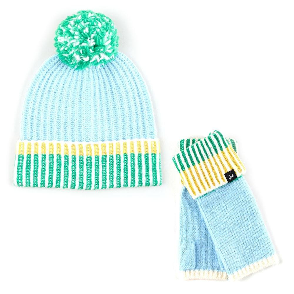 Echo Lollipop Sky Blue Gift Box - Beanie + Fingerless Gloves