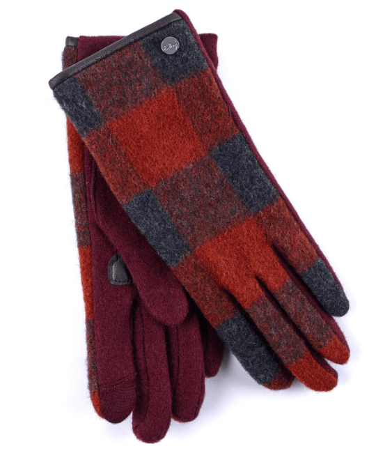 Plaid Wool Gloves (EG0090)