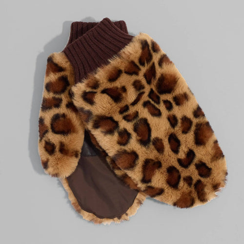 Echo Design Women's Leopard Faux Fur Mittens (EG0167) | Simons Shoes