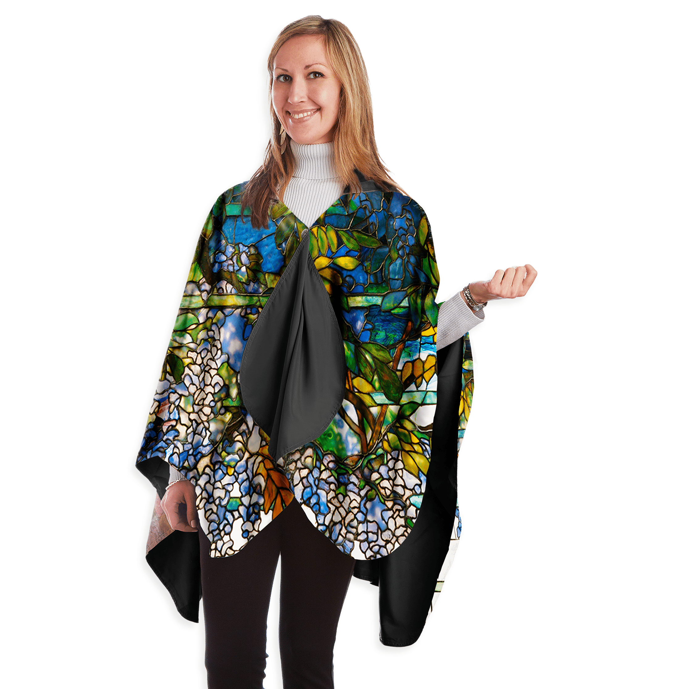RainCaper Women's Museum Collection Rain Poncho (RCM) Waterproof Cape