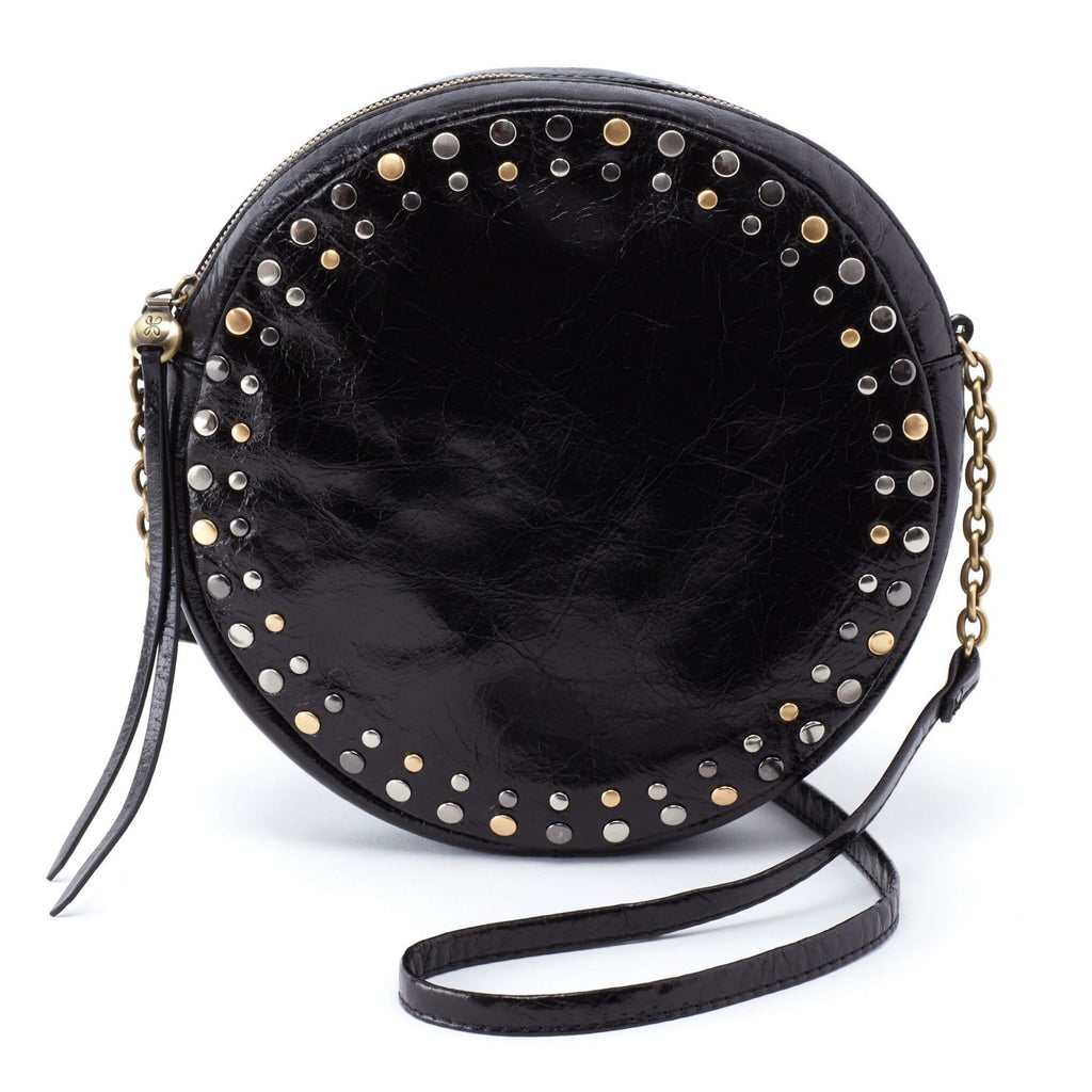 Hobo Comet Leather Studded Round Crossbody (VI-35765) | Simons Shoes