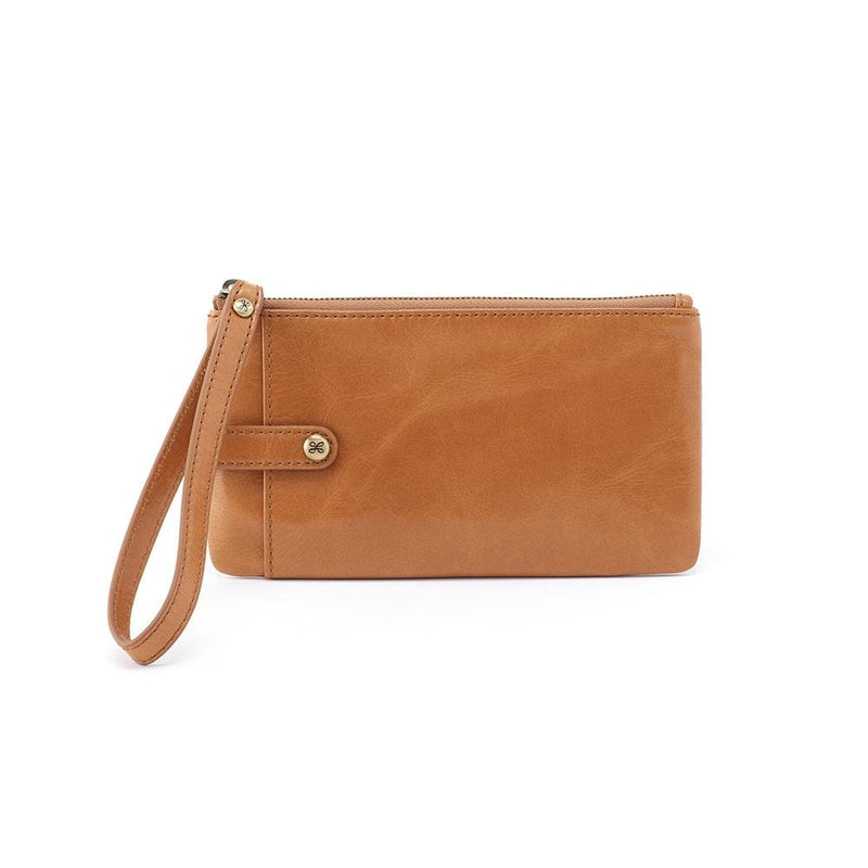 King Wristlet (VI-32390) | Small Leather Clutch with Wrist Loop Strap