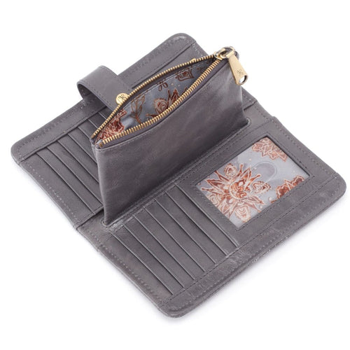 Hobo VI-32332 Torch Vintage Leather Snap Tab Wallet Organizing Clutch
