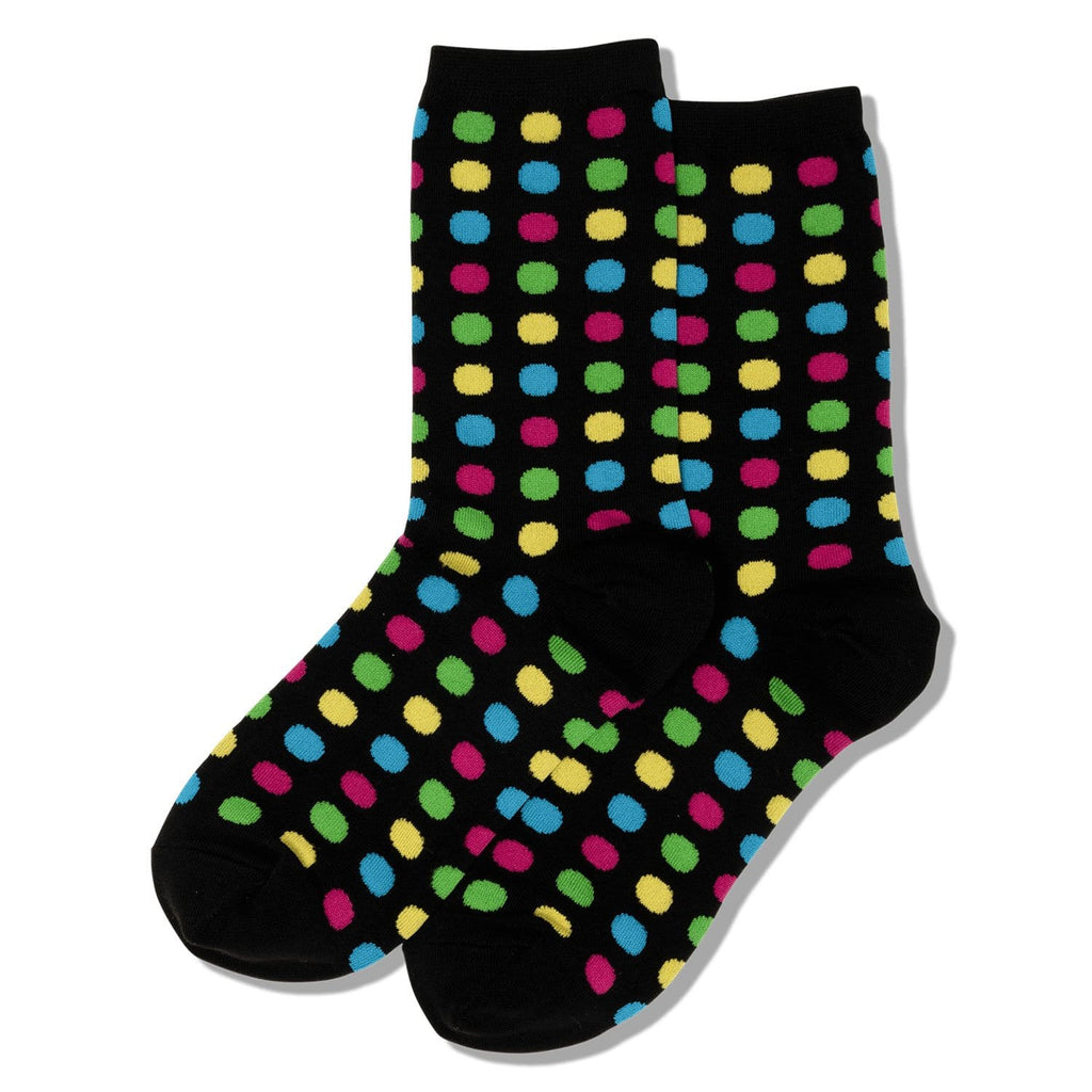 Hot Sox Big Polka Dot Women's Crew Socks Cotton Blend | Simons Shoes