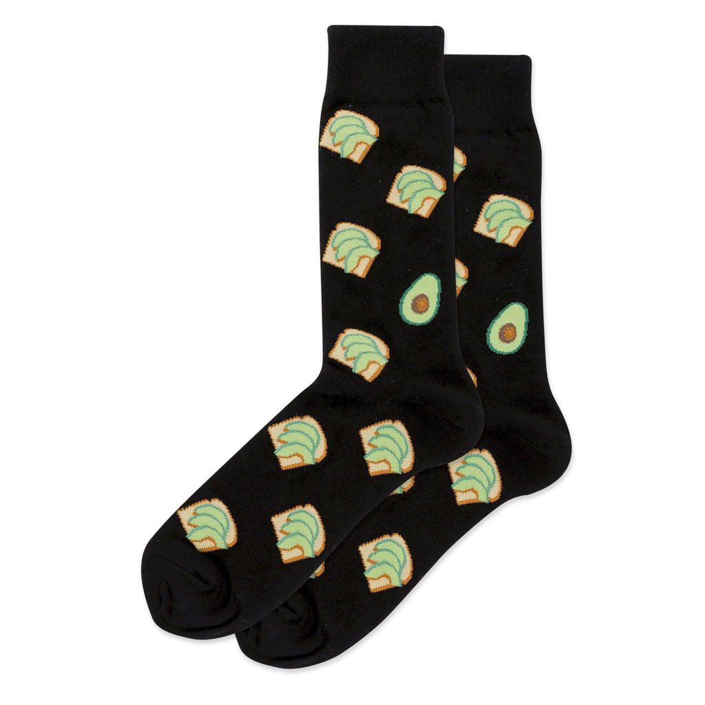 Hot Sox Avocado Toast Men's Crew Socks Cotton Blend | Simons Shoes