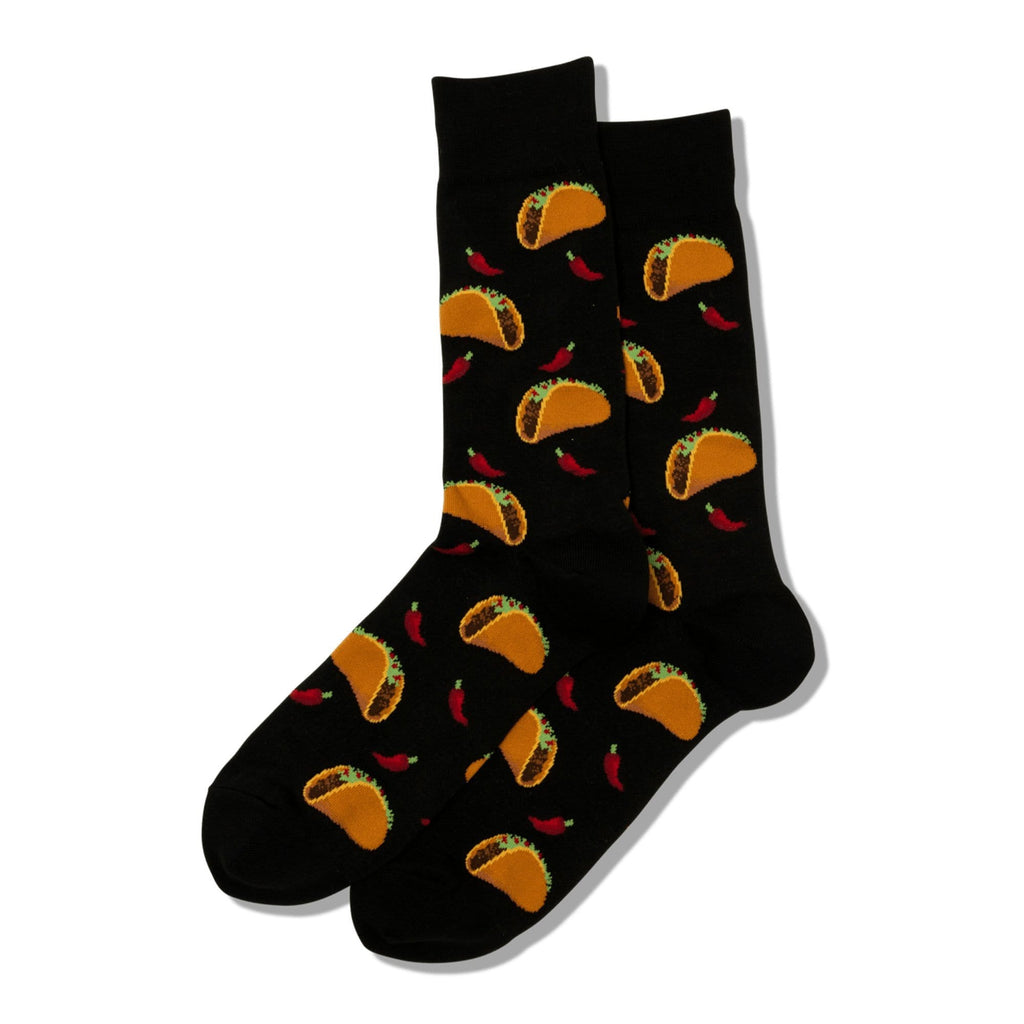 Hot Sox Taco Themed Men's Crew Socks Cotton Blend | Simons Shoes