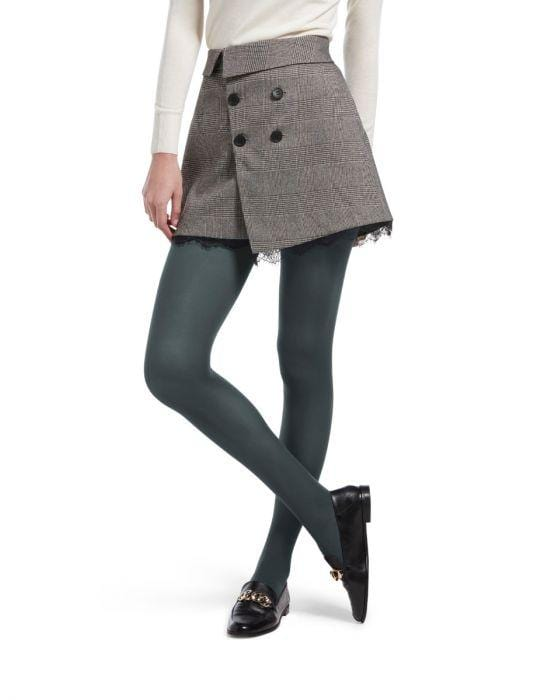 NWT Hue Opaque Tights Black Size 2 Medium Style 4689 Fits 120-170LBS