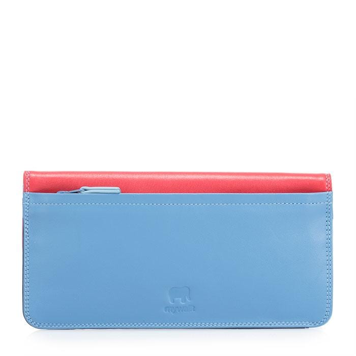 Mywalit Women's Simple Flapover Leather Wallet (1232)