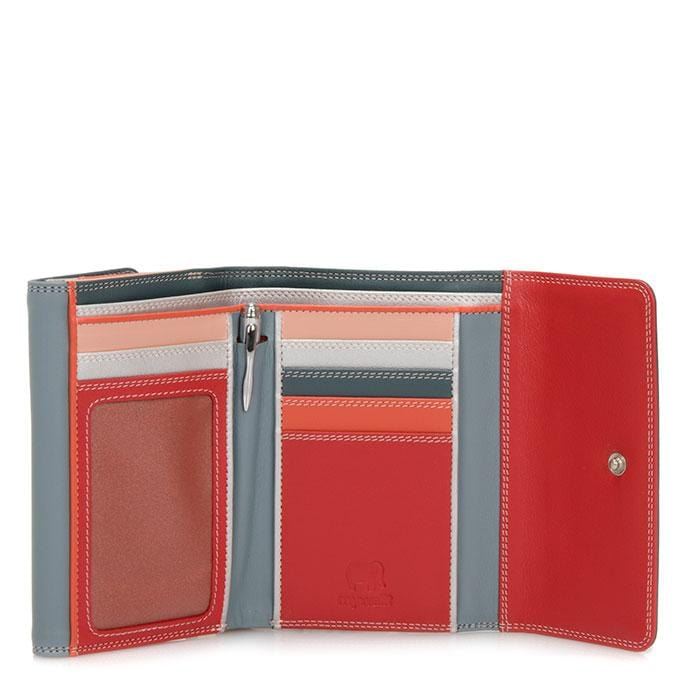 Mywalit Women's Double Flap Colorful Leather Wallet (250)