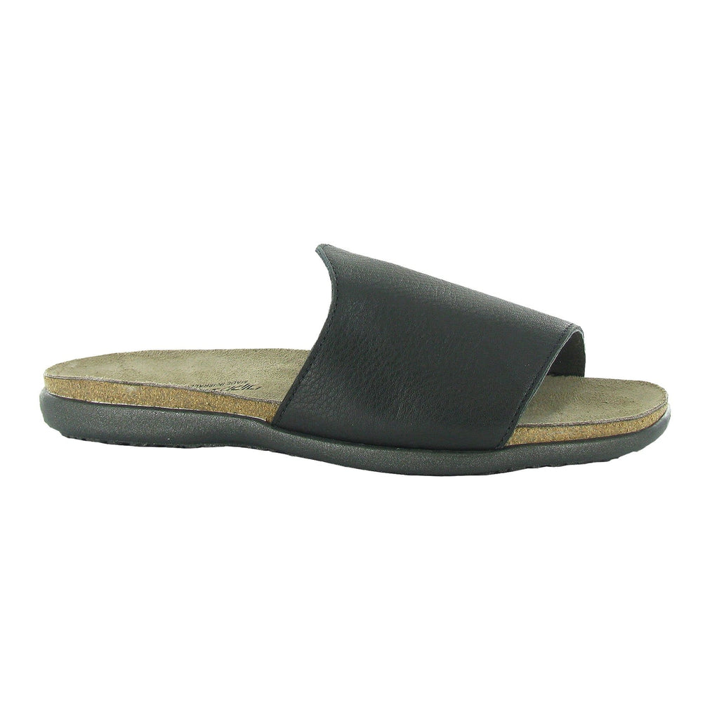 Naot Skylar Women's Black Leather Slide Sandal | Simons Shoes