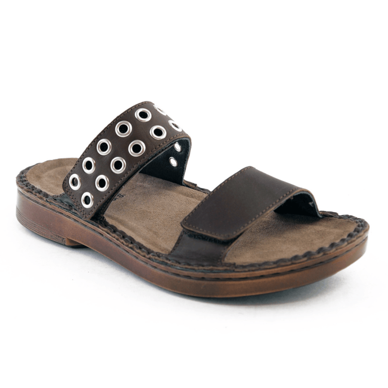 Naot Alameda Women's Riveted Leather Adjustable Two Strap Slide Sandal | Simons Shoes