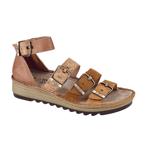 Naot Begonia Women's Leather Adjustable Buckle Low-Wedge Sandal Shoe