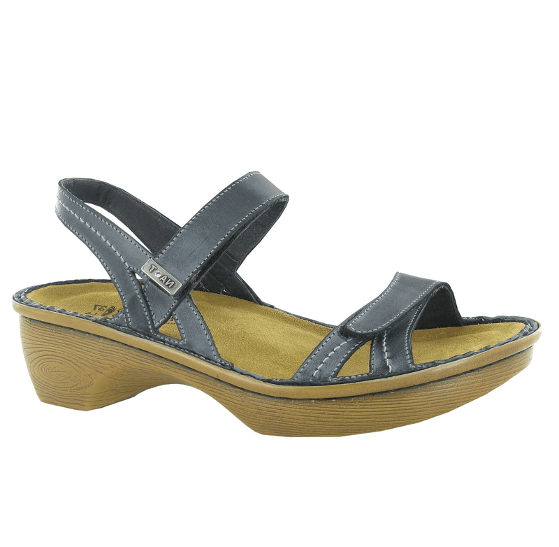 Naot Brussels Women's Leather Adjustable Mary Jane Wedge Sandal Shoe