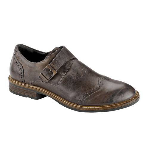 Naot Mens Dress Shoe | Evidence Leather Monk Strap Wing Tip | Simons