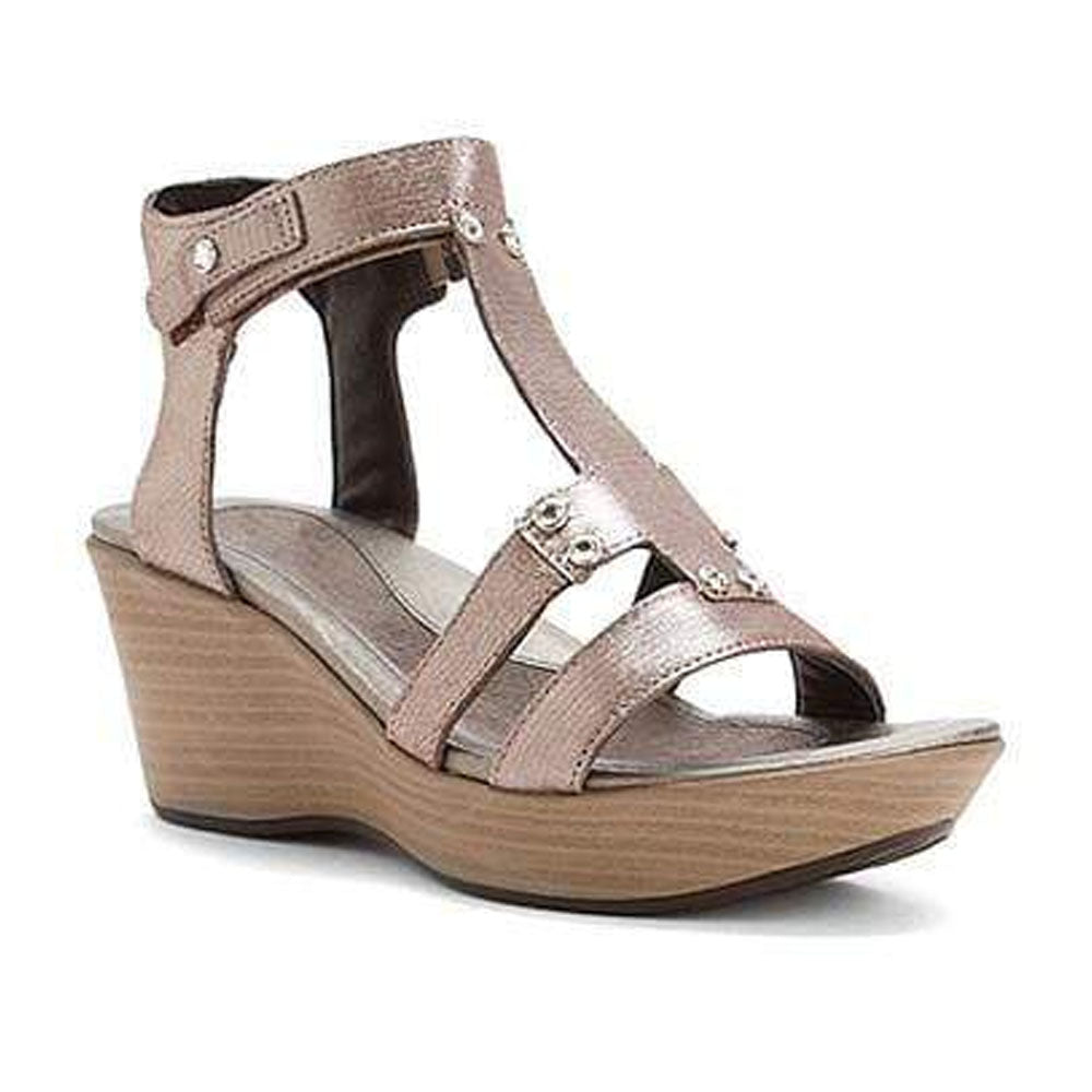 Naot Flirt Women's Leather Studded Edgy Gladiator Wedge Sandal Shoe