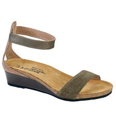 Naot Pixie Women's Leather Adjustable Strap Low Wedge Sandal Shoe