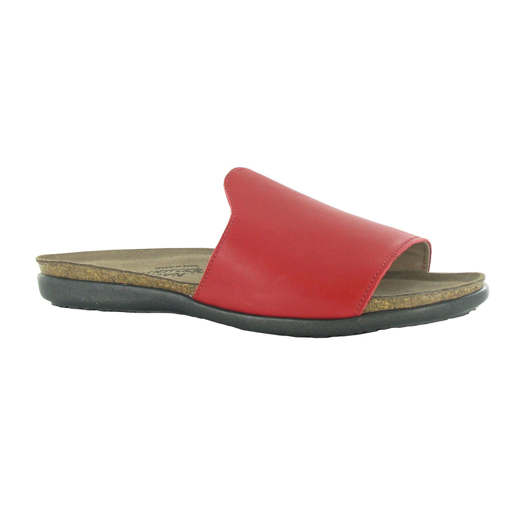 Naot Skylar Women's Red Leather Slide Sandal | Simons Shoes