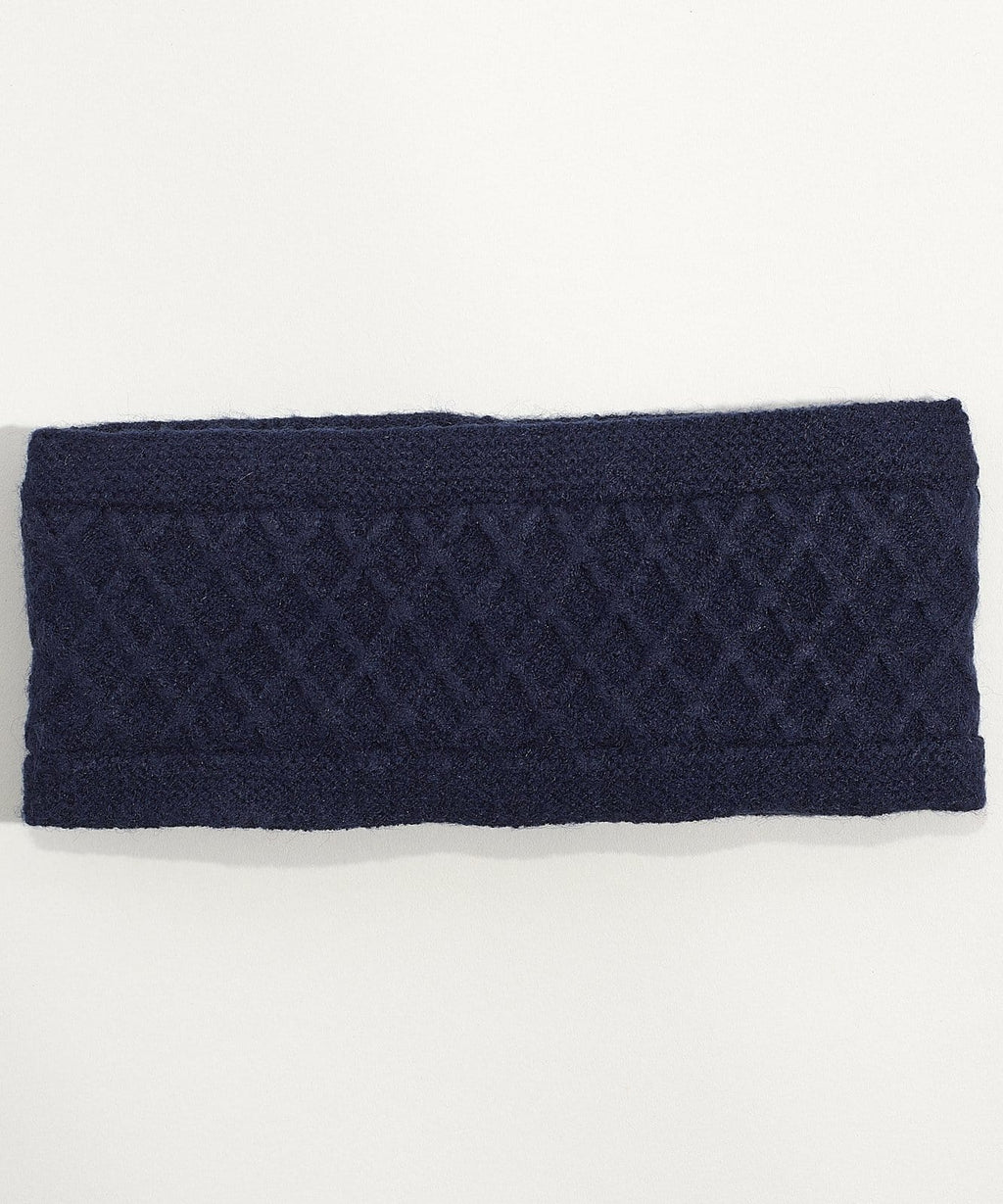 Diamond Cable-Knit Headband