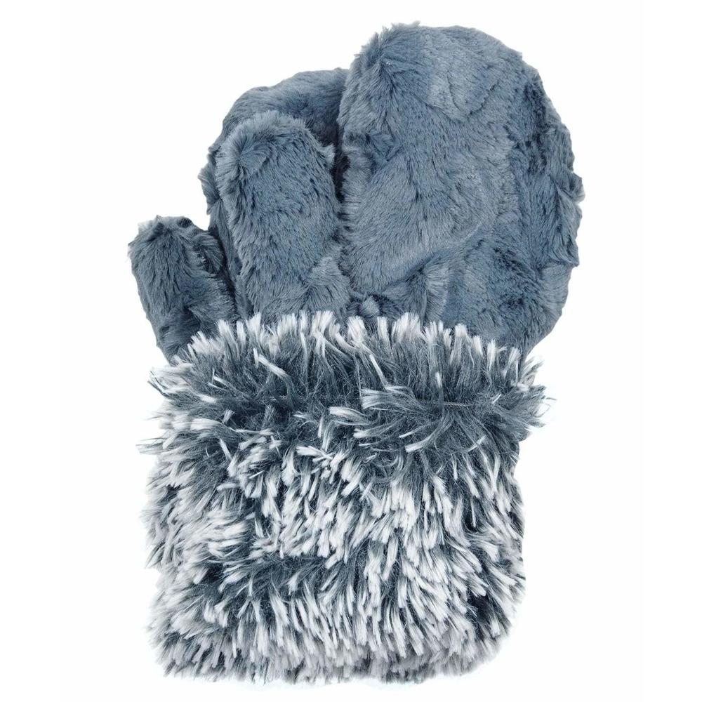 Pandemonium Womens Reversible Faux Fur Mittens | Simons Shoes