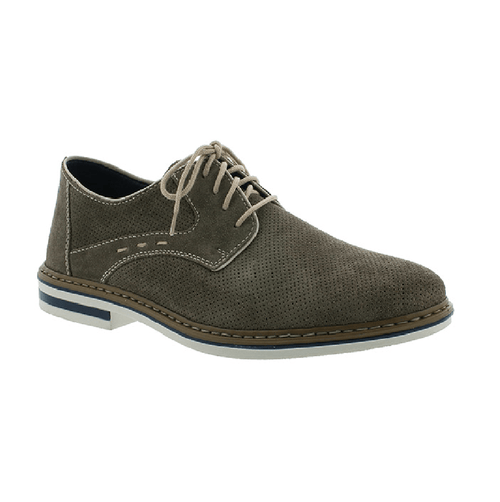 Rieker Men's Suede Shoe | Lace Up Dress Shoe (B1435) | Simons Shoes