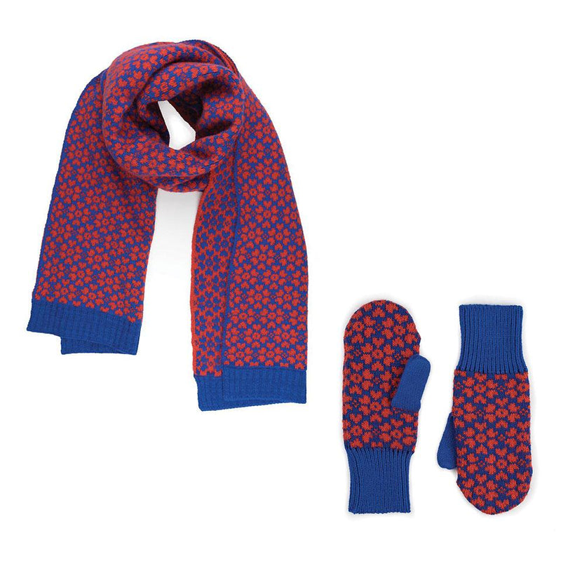 Verloop Sakura Gift Box - Scarf + Mittens Mohair Blend │ Simons Shoes
