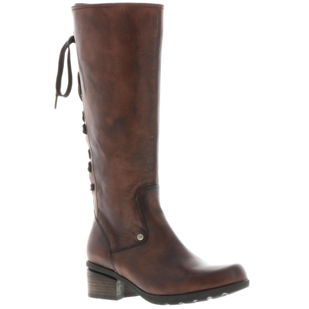 Wolky Hayden 1362 | Women's Leather Tall LaceUp Riding Boot | Simons