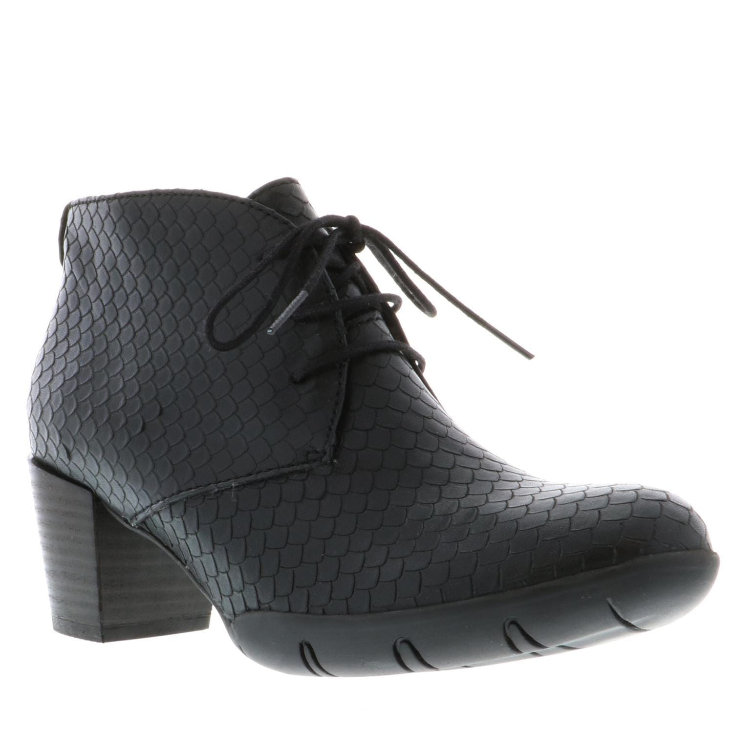 Wolky Bighorn 3610 | Women's Leather Lace Up Heeled Bootie | Simons