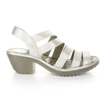 Fly London Woze Womens Strappy Leather Block Heel Sandal Simons Shoes