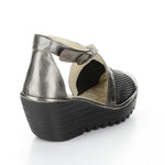 Fly London Yace Womens Perforated Leather Wedge Sandal | Simons Shoes