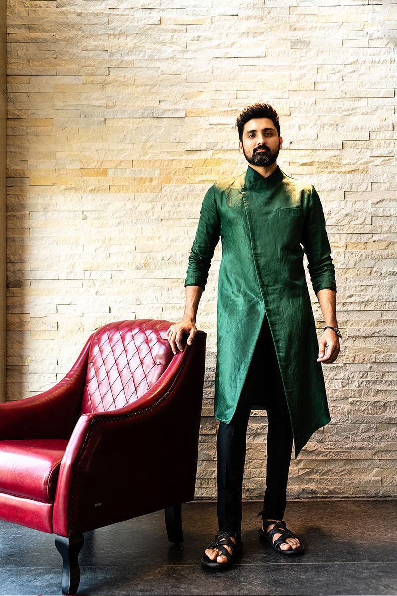 Emerald Green Long Kurta