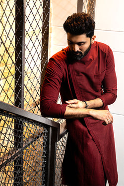 Maroon Long Kurta