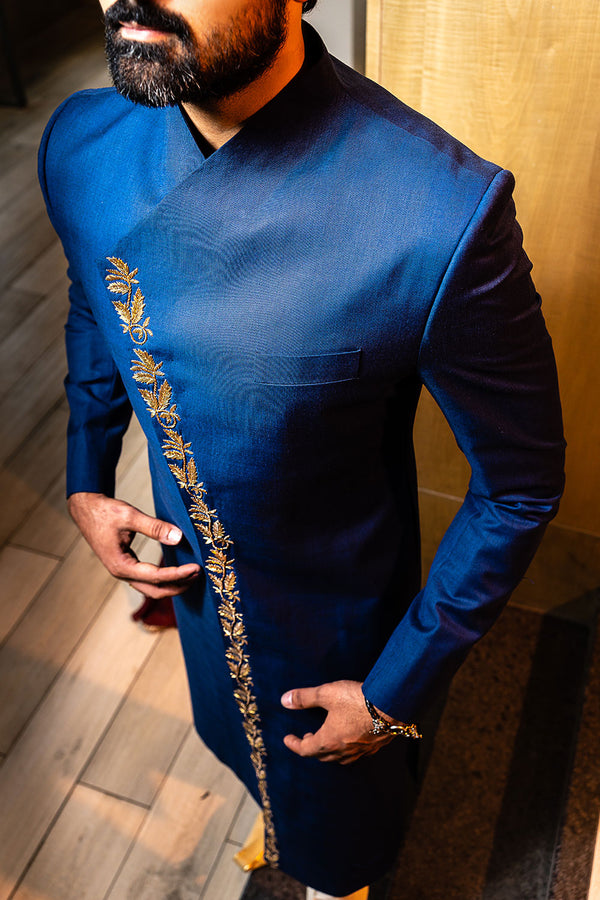 Dark Blue Sherwani