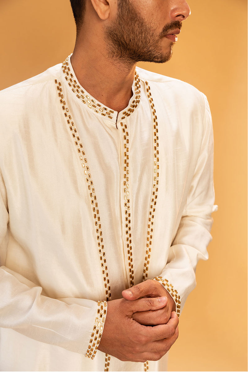 White Kurtha With Jacket