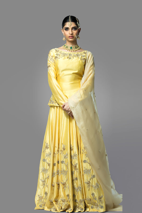 Yellow Lehenga Set wih Dupatta
