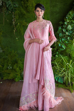 Pale Pink Anarkali with Dupatta