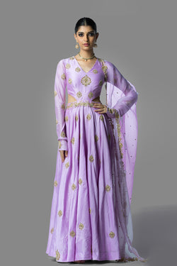Lavender Dress with Dupatta