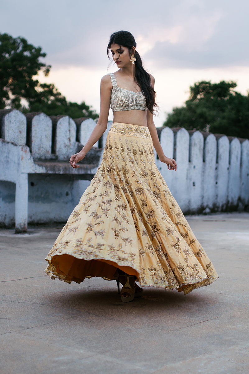 Ivory Cream Skirt with Dupatta