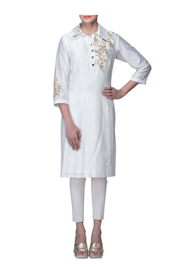 White Collared Tunic