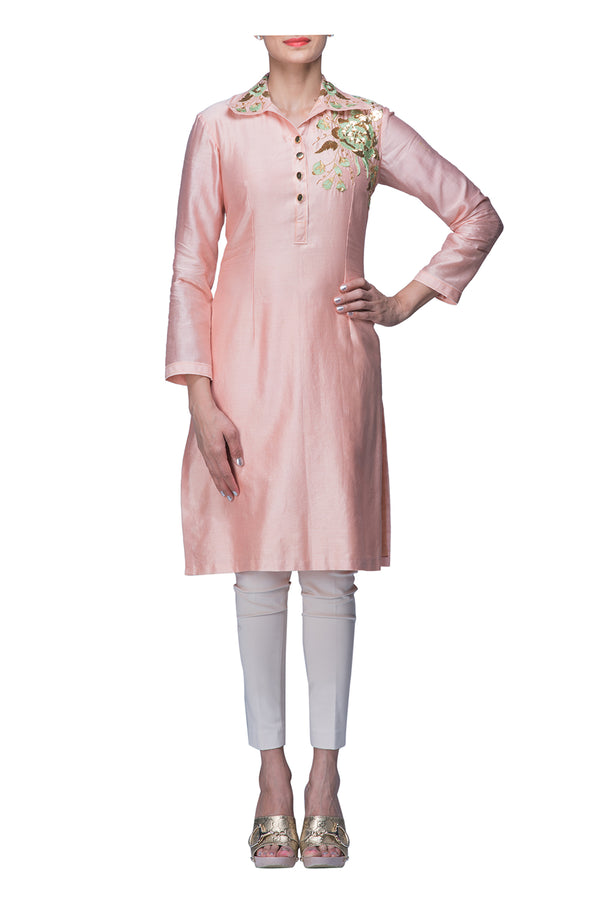 Light Pink Tunic with Collar
