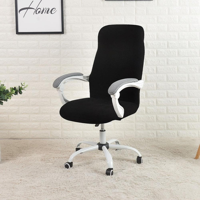 Desk chair cover with armrest