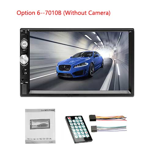 Universal Double Din Car Multimedia Player & Backup Camera
