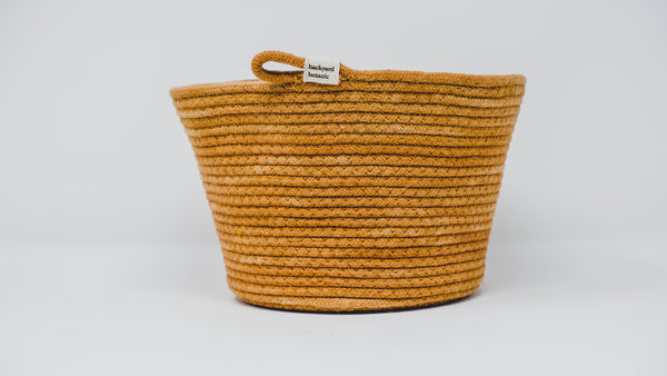 Naturally Dyed Rope Bowl