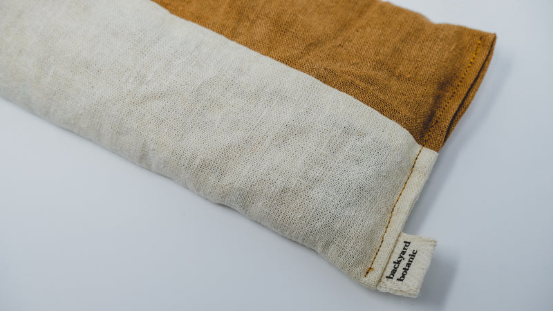 Naturally Dyed Weighted Eye Pillow: Terracotta + Natural