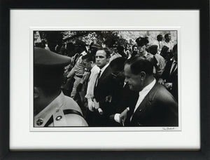 Marlon Brando, James Baldwin and Joseph Mankiewicz part of the Hollywood Delegation, Marching to the Lincoln Memorial. Brando holds their proclimation, 28th of August 1963