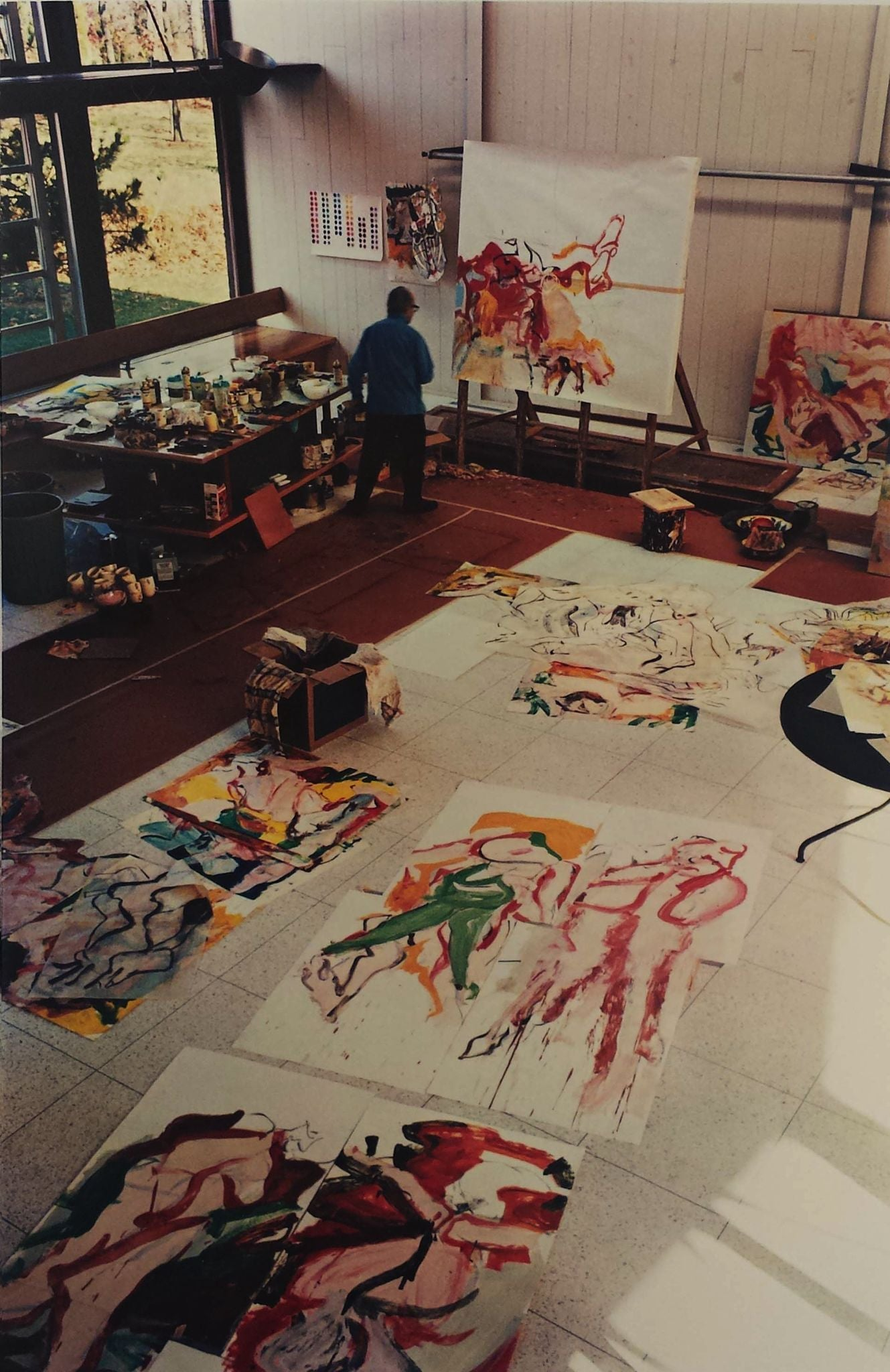 Willem de Kooning (1904-1997) in his Studio, The Springs, New York, November 1968 Default Title