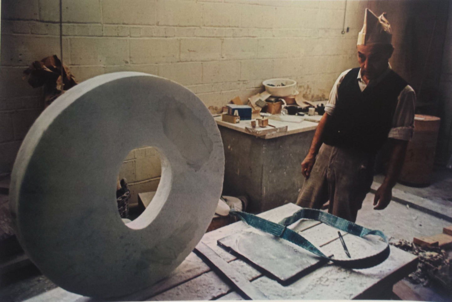 Isamu Noguchi (1904-1988) working on The Sky, Long Island City, New York, 1964 Default Title