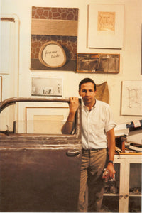 Robert Rauschenberg (1925 - 2008) with component of Oracle, 809 Broadway studio, New York, 1964 Default Title
