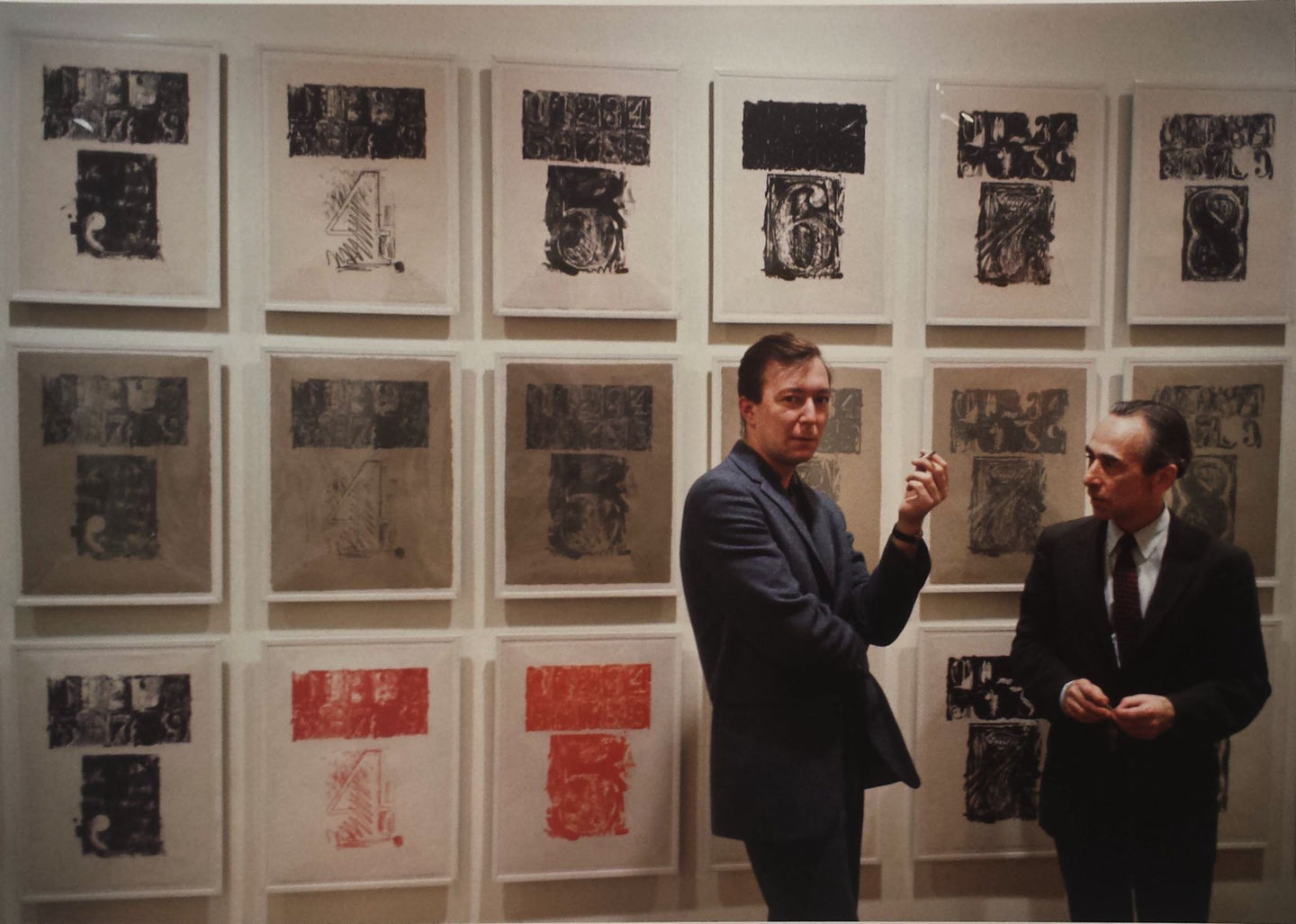 Jasper Johns (1930- ) & Leo Castelli (1957 - 1999) at Leo Castelli Gallery, New York with